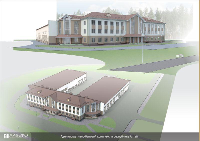 Административно-бытовой комплекс в республике Алтай
